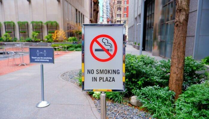 Roken in New York - Niet roken in parken