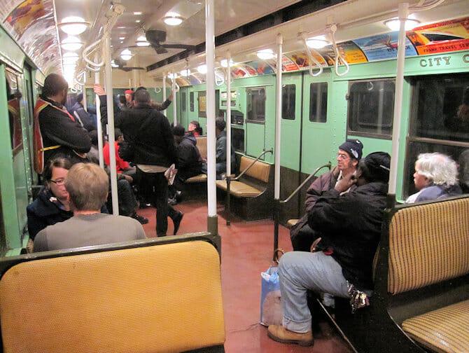 Vintage Metros in NYC - van binnen
