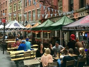 Restaurants op Stone Street in New York