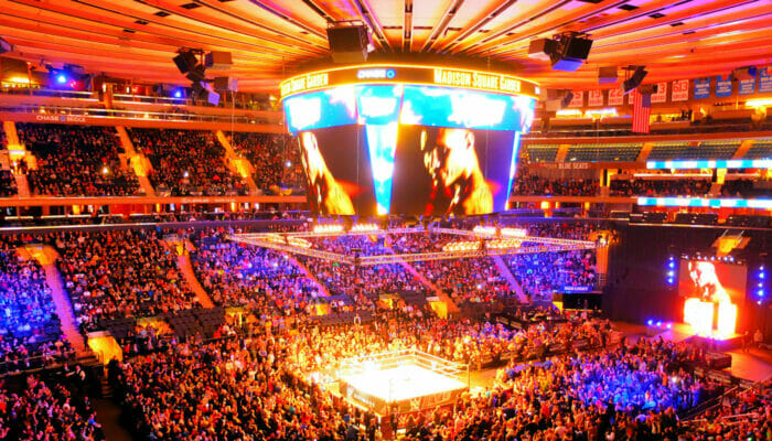 Madison Square Garden in NYC - Binnen