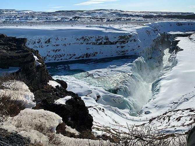 Stopover in IJsland op weg naar New York- Waterfall