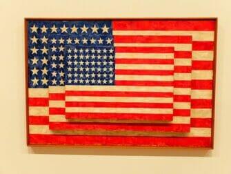 Whitney Museum in New York Jasper Johns Flag