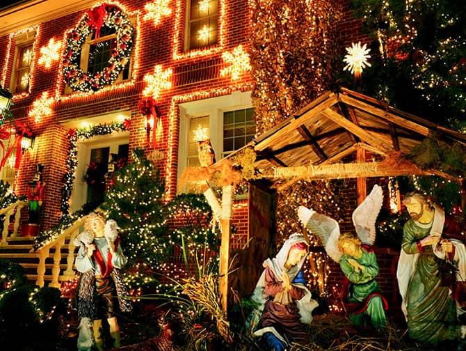 Dyker Heights Christmas Lights - Kerststal