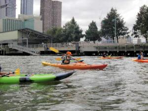 Kayakken in New York