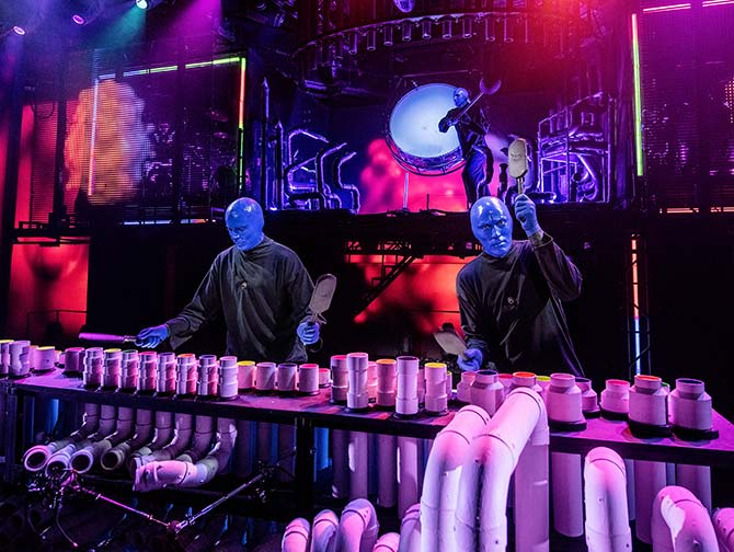 Blue Man Group in New York Tickets - On Stage