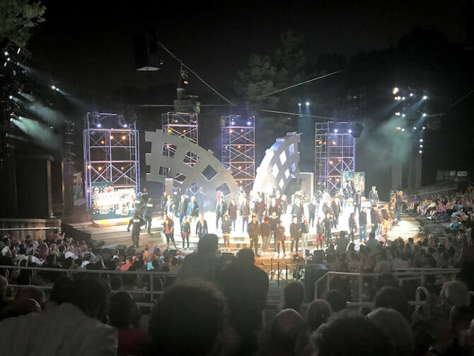Shakespeare in the Park in New York - Eind van de Show