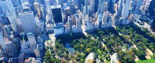 Helikoptervlucht zonder deuren in New York