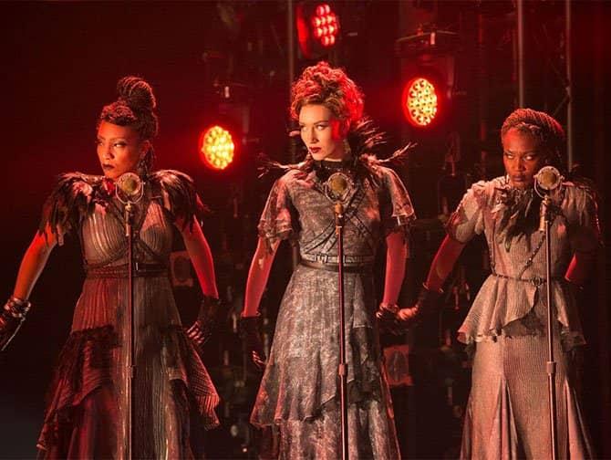 Hadestown op Broadway Tickets - Drie Schikgodinnen