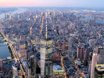 Avond Helikoptervlucht en Sightseeingcruise in New York - Freedom Tower