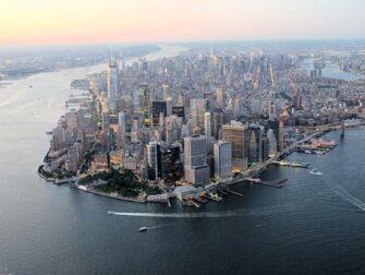 Avond Helikoptervlucht en Sightseeingcruise in New York - Manhattan