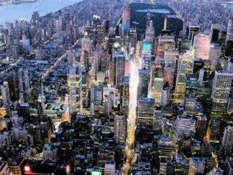 Avond Helikoptervlucht en Sightseeingcruise in New York - Times Square