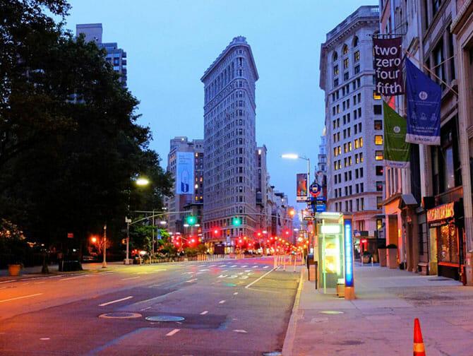 Flatiron Building in New York - Avond