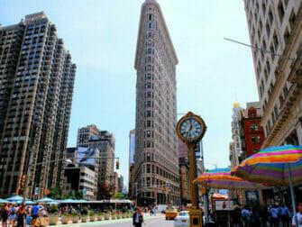 Flatiron Building in New York - Klok bij het Flatiron Building