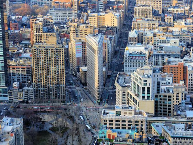 Flatiron Building in New York - Uitzicht
