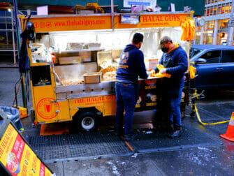 New York Street Food Halal Guys Food Cart