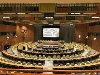 De Verenigde Naties in New York Trusteeship Council Chamber