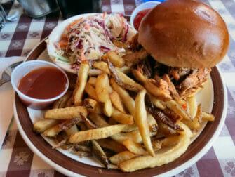 Typisch Amerikaans eten in New York BBQ