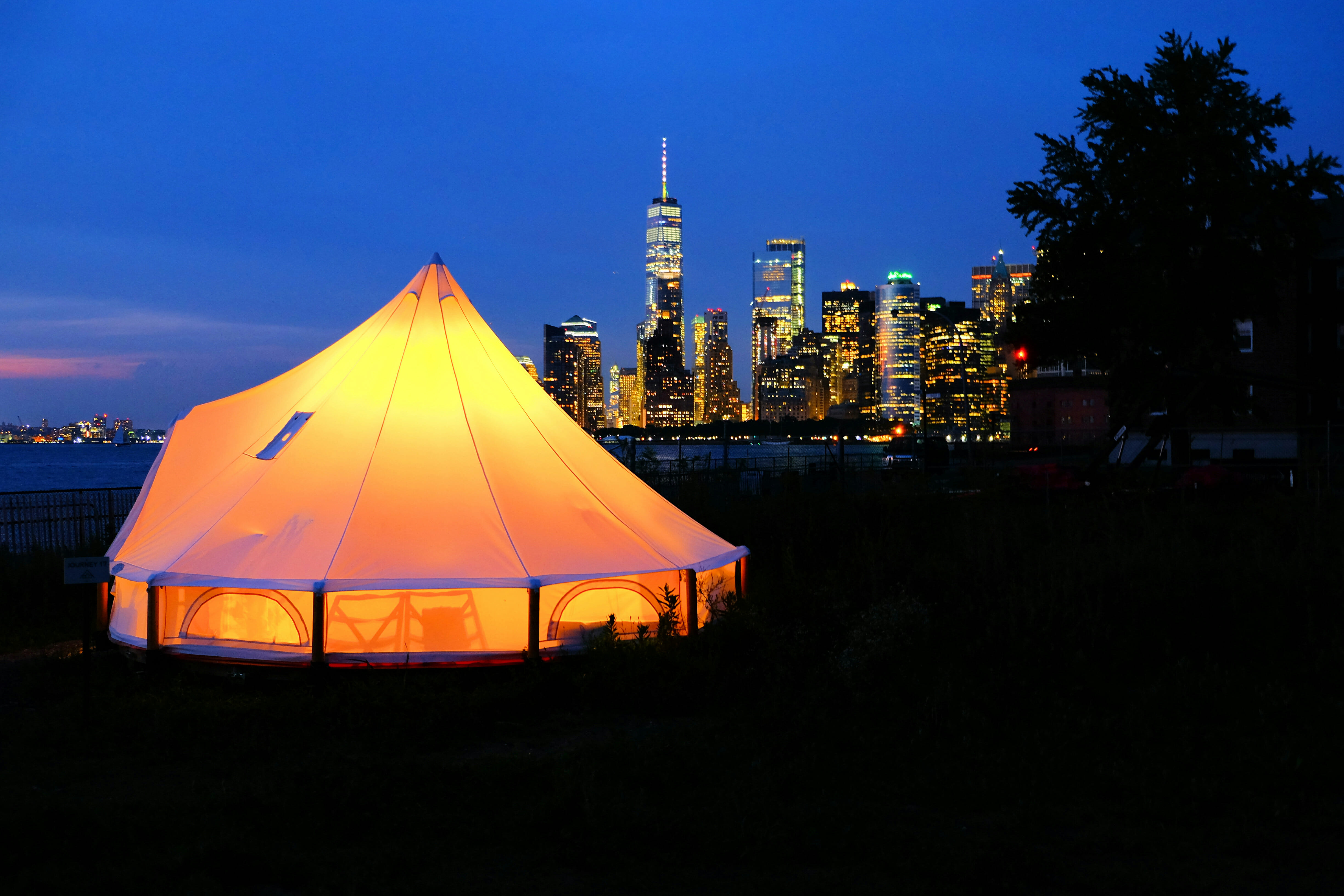 Govenors Island Glamping High Quality Wallpaper
