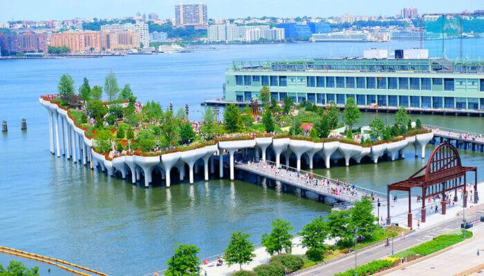 Little Island in New York - het hele eiland
