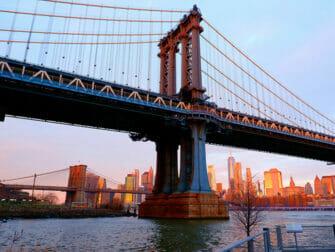 Manhattan Bridge in New York - Zonsondergang