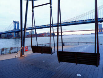 Manhattan Bridge in New York - Uitzicht