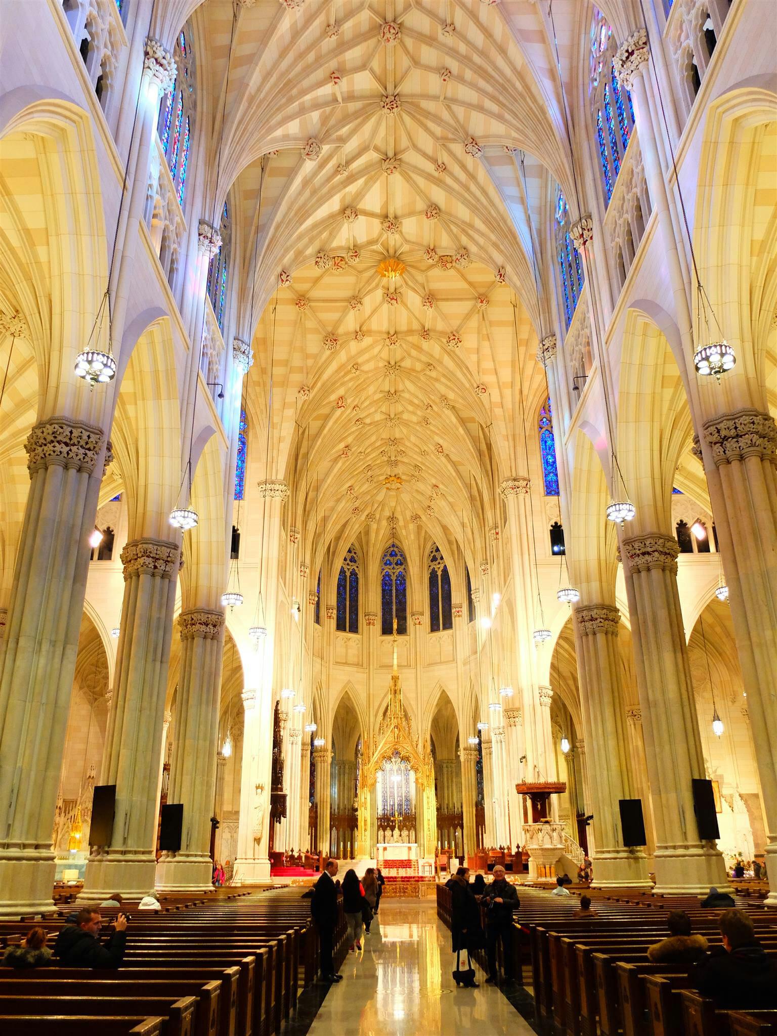 NYC St Patricks Cathetral Inside High Quality Wallpaper