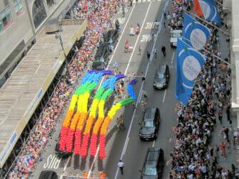 New York Gay Pride - Regenboogkleuren