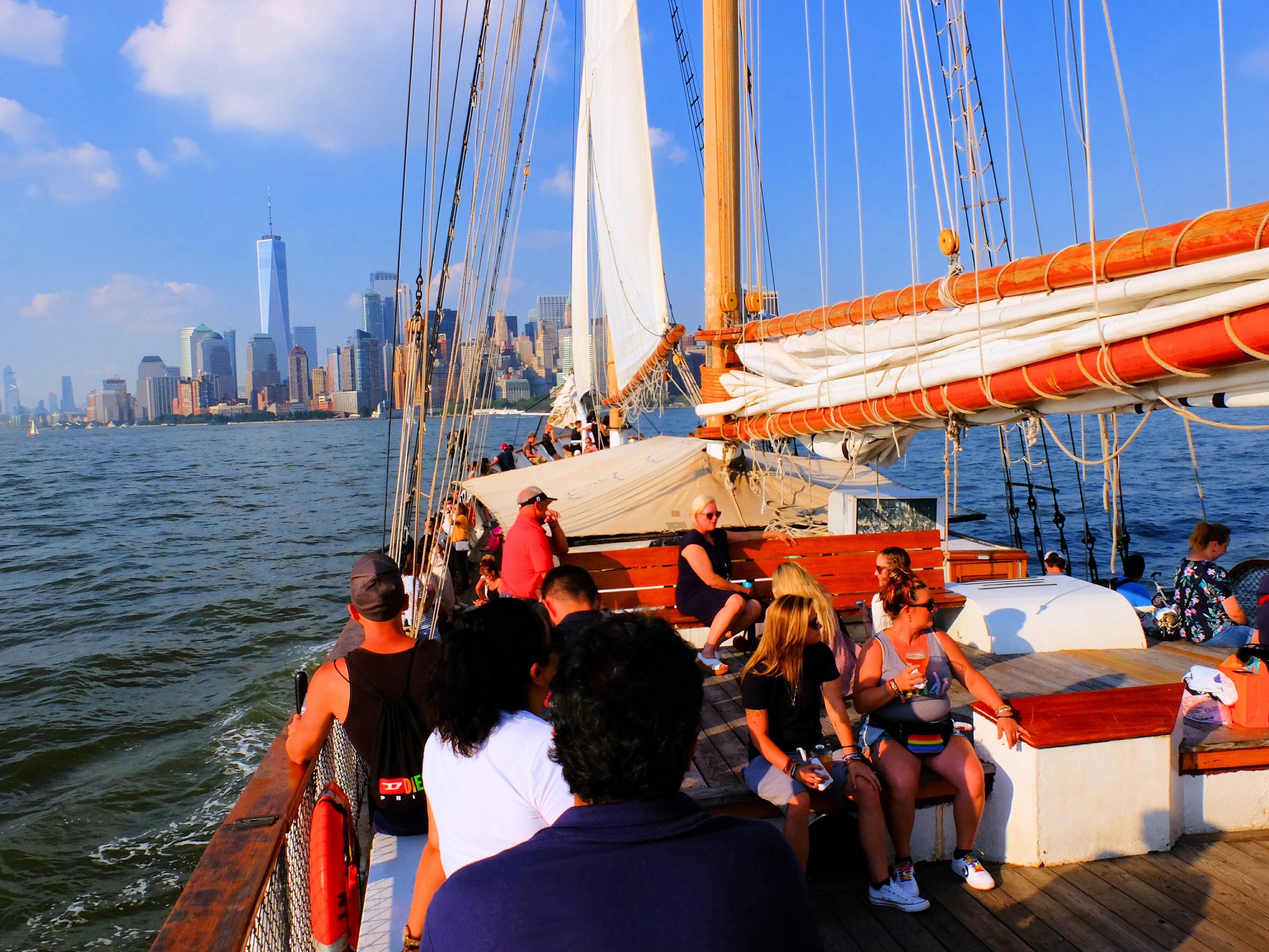Sailboat New York City High Quality Wallpaper