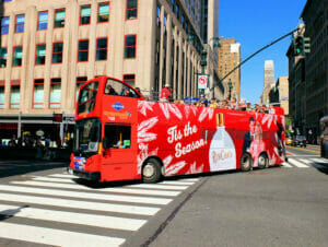 Gray Line Hop-on Hop-off bus in New York