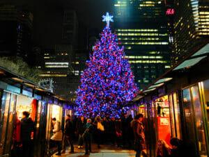 New York Kerstmarkten
