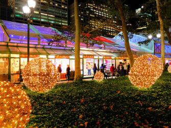 New York Kerstmarkten Bryant Park