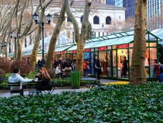 New York Kerstmarkten Bryant Park Markt