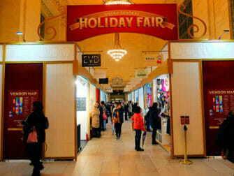 New York Kerstmarkten Grand Central