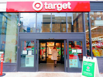 Supermarkten in New York Target New York Buitenkant