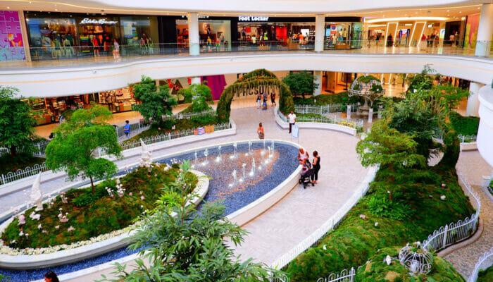 American Dream Mall bij New York - Binnentuin