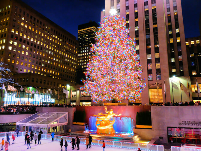 Rockefeller Center Christmas Tree Lighting Ceremonie Kerstboom