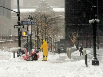 Sneeuw in New York - Straat
