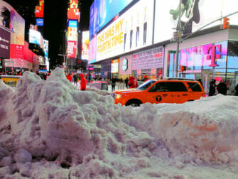 Sneeuw in New York - Times Square