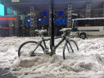 Sneeuw in New York - Vervoer